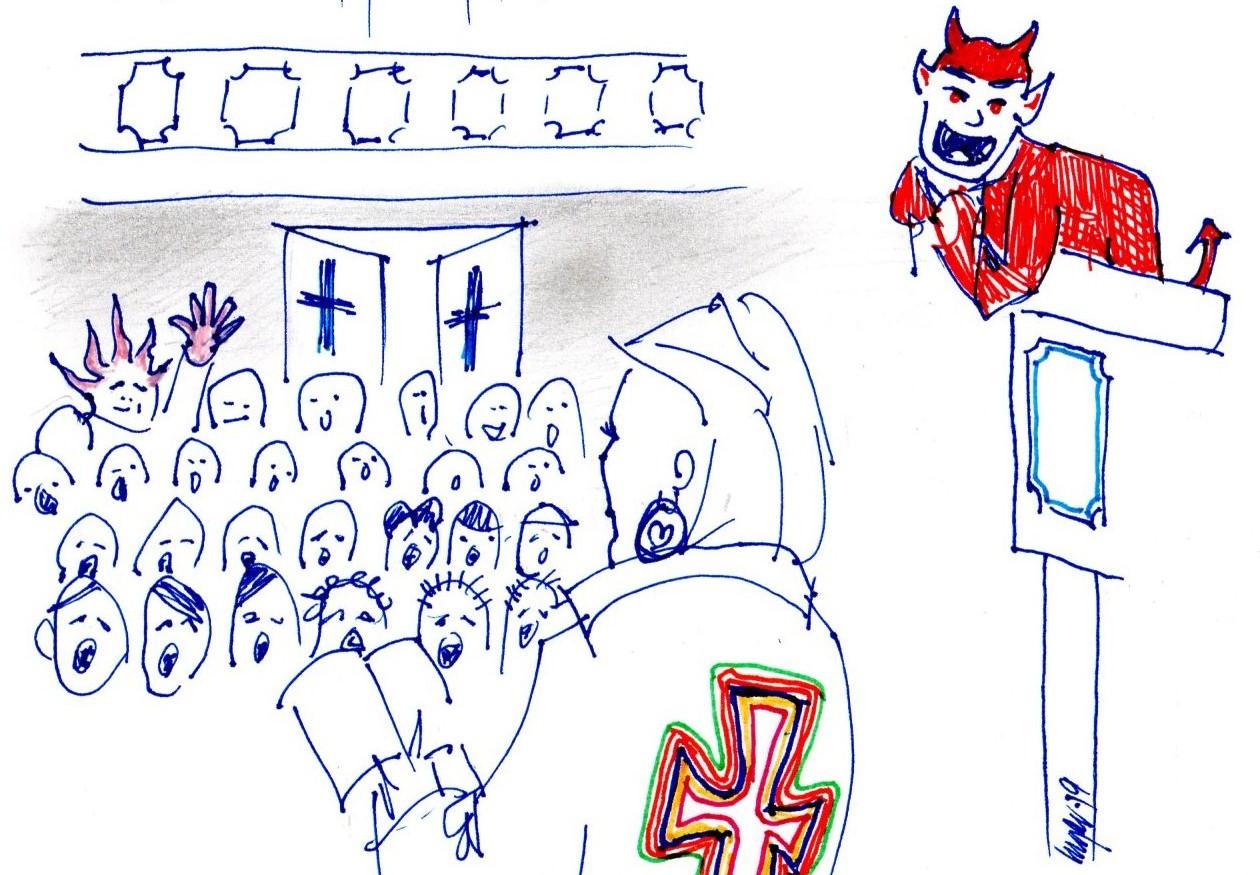 Går Djevelen virkelig i kirken?